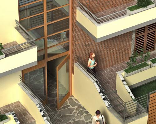 Rendering per Residenze